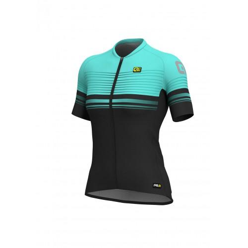 ALÉ Linea PRR 2.0 Slide Women's Jersey - Black/Turquoise