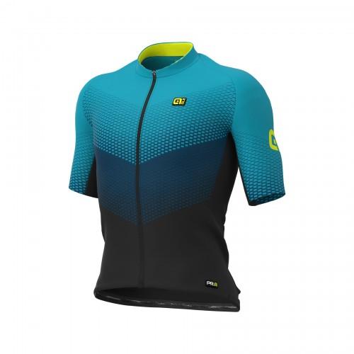 ALÉ PRR Delta Jersey - Black/ Petrol/ Turquoise