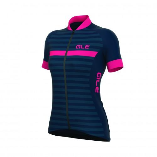 ALÉ Excel Riviera Women's Jersey - Blue/ Fluo Pink