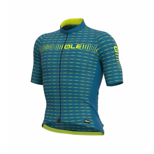 ALÉ PRR Green Road Jersey - Azure Blue/ Fluorescent Yellow