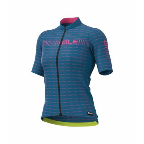 ALÉ PRR Green Road Women's Jersey - Blue/ Fluorescent Pink