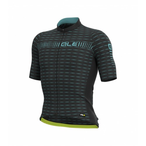 ALÉ PRR Green Road Jersey - Black/ Turquoise