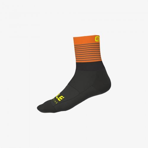 ALÉ Linea Piuma Socks - Black/ Fluo Orange