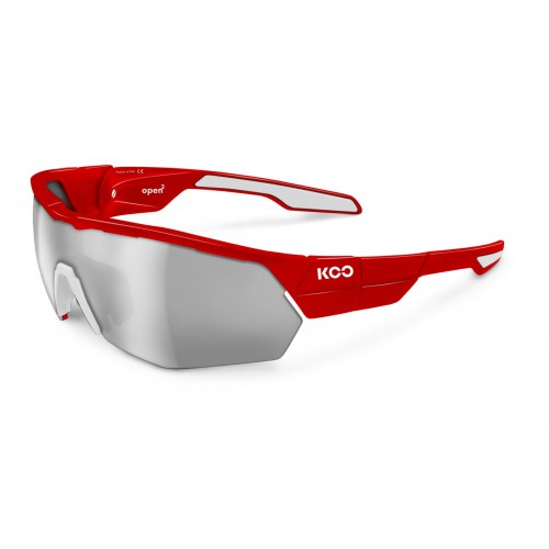 Koo Open Cube Red/ Smoke Mirror Lens (Asian Fit)