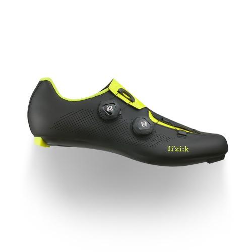 Fizik Aria R3 BOA Cycling Shoes - Black/ Fluo Yellow